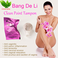 6pieces/lot bangdeli clean point tampons beautiful life tampons vaginal detox cleansing pearls Herbal women original Tampon