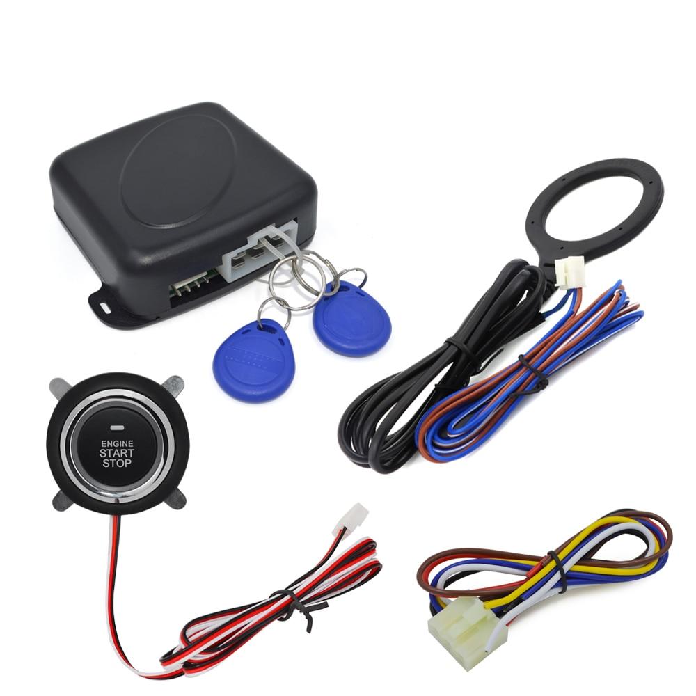 12v Car Alarm System Keyless Entry Push Button Start: 2017 Smart RFID Car Alarm System Push Engine Start Stop