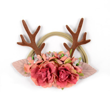 DIWONI Deep Powder ChildrenS Antler Headband Birthday Present Trellis European Style Cloth Animal Modeling