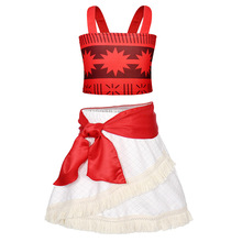 AmzBarley moana costume toddler girls princess dress Cosplay party birthday outfit 3 pieces tassel clothing