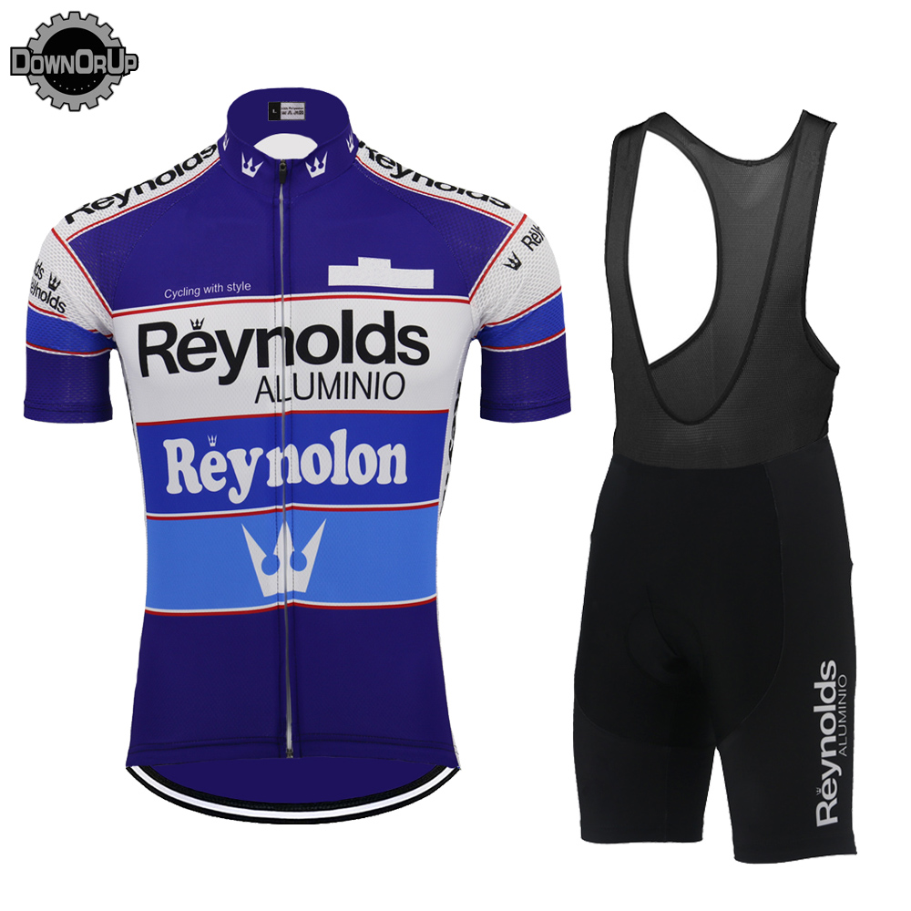 Image 4 - 2019 Retro REYNOLDS cycling jersey men summer RACE Team BLUE Bike Cycling Jersey Tops MTB Customized racing clothes Triathlon-in Cycling Jerseys from Sports & Entertainment