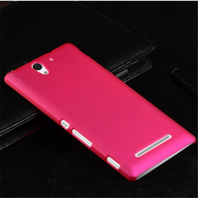 free shipping a330a 4c1ed US $3.69 26% OFF|For Sony Xperia C3 Case On Sony Experia C3 Cover Hard For  D2533 D2502 S55t S55u Dual Duos Colorful Solid Matte Back Shell-in ...
