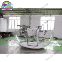 Outdoor 3m diameter inflatable clear bubble house tent, approval waterproof transparent inflatable igloo tent for camping