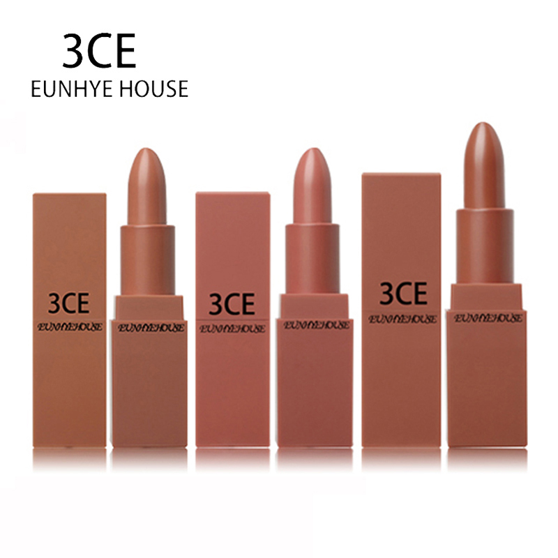 3CE EUNHYE HOUSE Lips Makeup Matte Lipstick Waterproof Lips Cosmetics Easy To Carry Matte Lipsticks 5 Colors In 1 Set Hot Sale 2