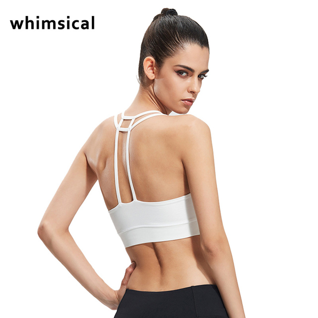 951da3b75e whimsical Sexy Sports Bra Women Running Fitness Athletic Vest Popular  Hollow Out Yoga Top Push Up Underwear for Woman 4 color