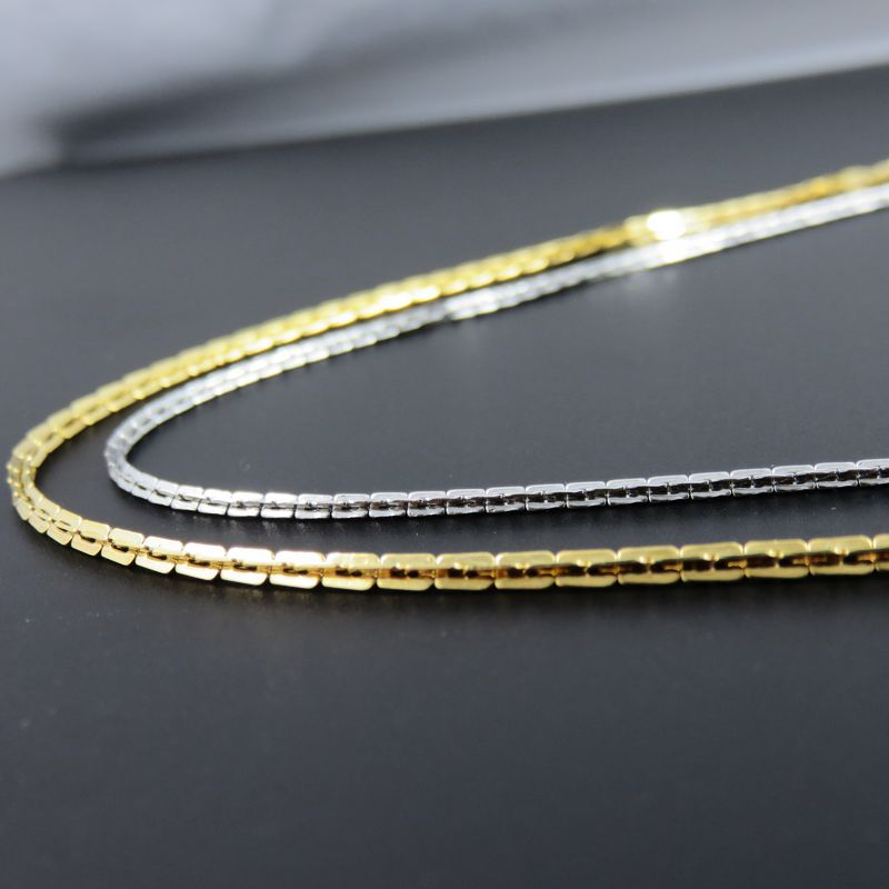 Kette Schlangenkette aus Edelstahl 2,5 mm 45 cm Stahl Schlange