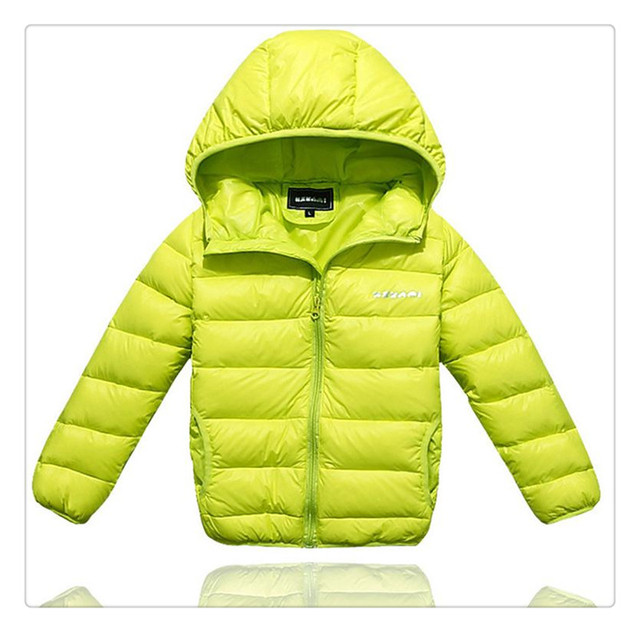 2017 New Brand Boys and Girls warm solid Winter Coats Kids Down Jacket Children Hooded Outerwear Warm Down Jackets for children