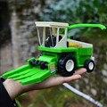 21*7*10 СМ Большой Комбайн, трактор Автомобили Инженерные транспортные средства транспортировки сельскохозяйственных Комбайнов детский игрушечный автомобиль зеленый цвет
