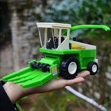 21*7*10 CM Große Mähdrescher traktor Autos Engineering fahrzeuge transport bauernhof Erntemaschinen kinder spielzeugauto grün farbe