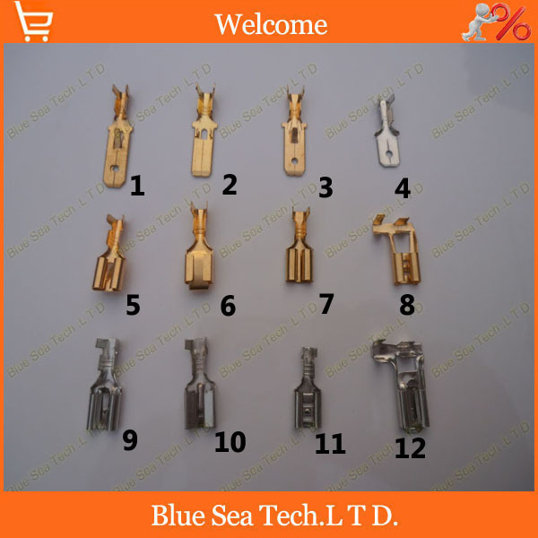 120pcs 12 model 6 3mm male and female terminal for 6 3mm