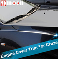 Car stainless steel engine cover trim decorative cover article for Cruze sedan hatchback