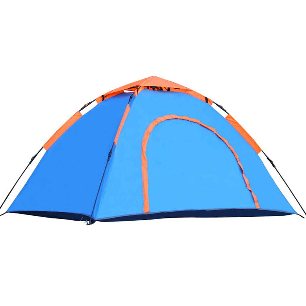 1 To 2 Person Automatic Tent Portable Rainproof Tent Single Layer Outdoor Camping Tent For Hiking Fishing Backpacking New 5 6 person huge 2 layer automatic rainproof sunshade shelter hiking travel fishing beach family awning outdoor camping tent
