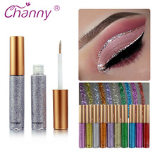 Channy Shimmer Glitter Eyes Liner Make Up Easy to Wear Waterproof Pigment Red White Gold E