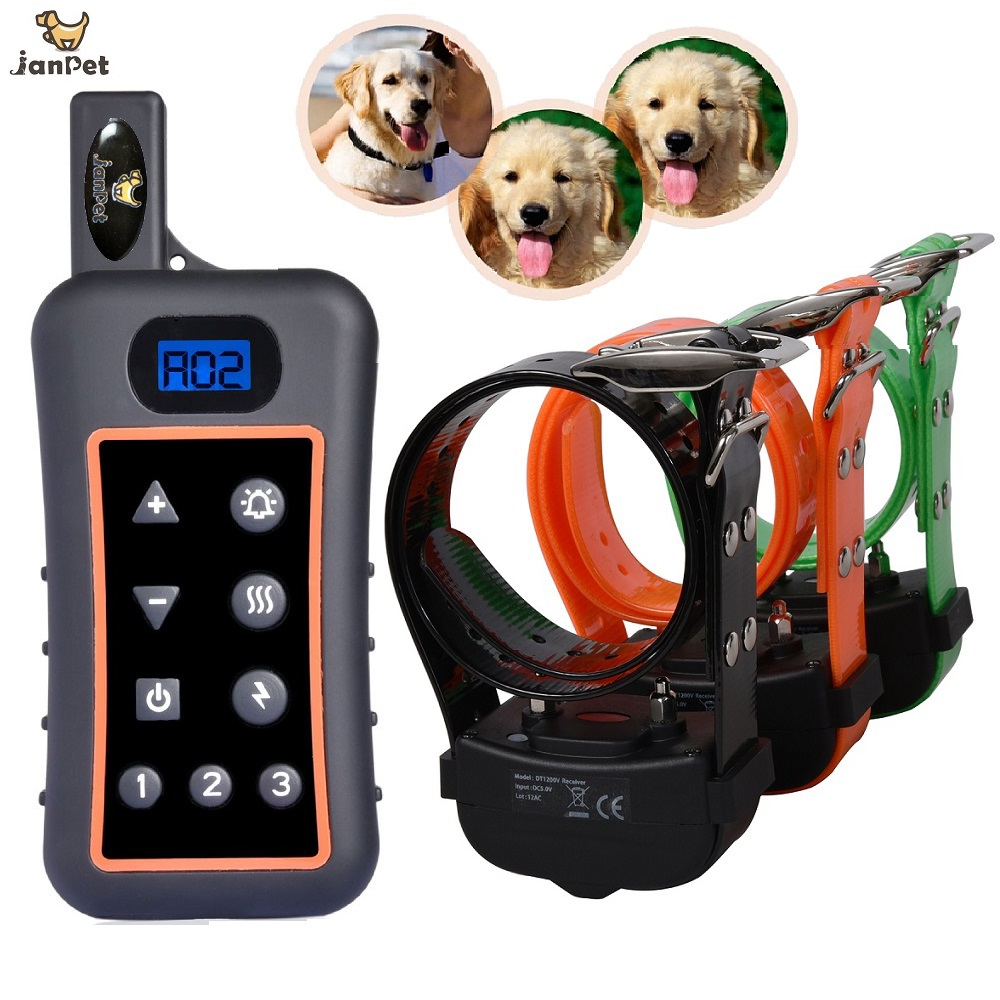JANPET Hunter's Dog Trainer Hunting Dog Training Collar Waterproof Electronic Dog Shocking Collars With Remote 1200m