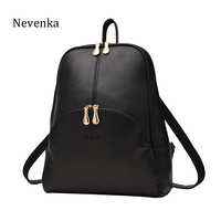 NEVENKA Women Backpack Leather Backpacks Softback Bags Brand Name Bag Preppy Style Bag Casual Backpacks Teenagers