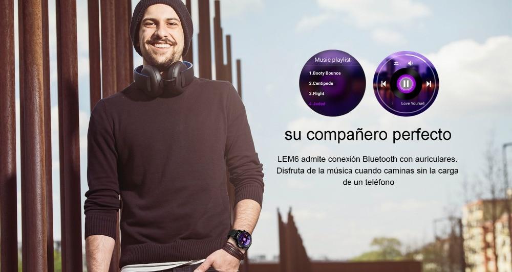 16 LEMFO LEM6 reloj inteligente music