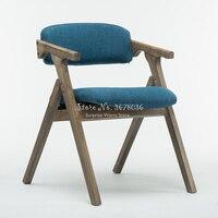 Скандинавский современный стул Вешалка из цельной древесины обеденное кресло, мебель для дома современный стул для взрослых с поручнем коф