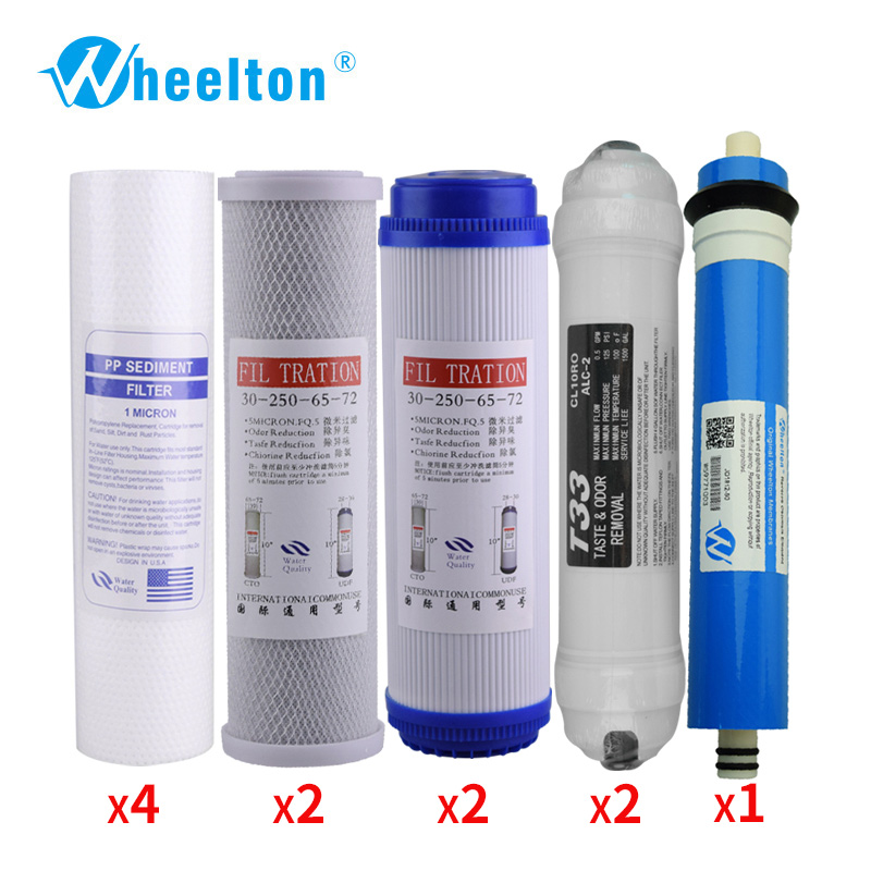 Wheelton New Water Purifier 5 Stage Filter Cartridge  Reverse Osmosis System Water Filters For Two year complete Household UsingWheelton New Water Purifier 5 Stage Filter Cartridge  Reverse Osmosis System Water Filters For Two year complete Household Using