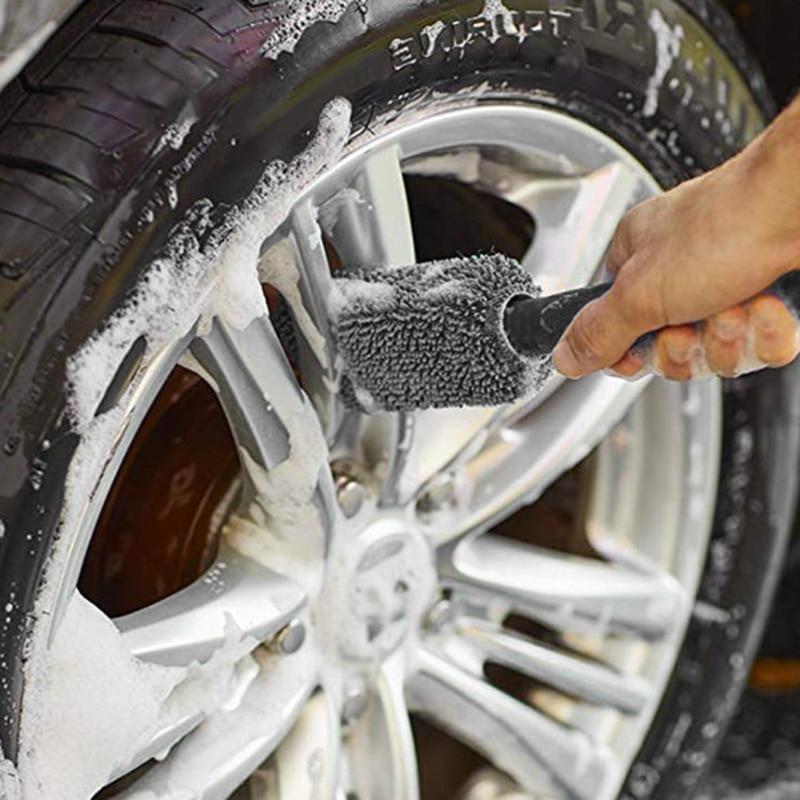 Baynne Car Truck Motorcycle Bicycle Washing Cleaning Tool Wheel Tire Rim Scrub Brush