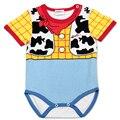 0-24Month BEBÊ BODYSUITS Infantil Body de Manga Curta Roupas Semelhantes Macacão Impresso Bodysuits 100% Algodão Do Bebê Da Menina do Menino Crianças