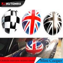 KJAUTOMAX для Mini Cooper R55 R56 R57 R59 R60 R61 ветровая дверь ABS внешний вид заднего вида наружное зеркало крышка оболочки аксессуары
