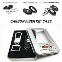 1PCS Auto Key Case Carbon Fiber Metal Key Case Chain Car Key Case Emblem For Infiniti