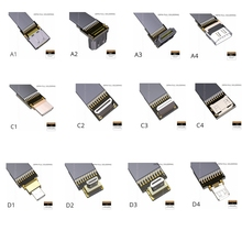 Micro HDMI D-Type Mini HDMI C-Type HDMI A-type Connector Converter Adapter Cable Up & Down & Right & Left Angle Male to Male цена