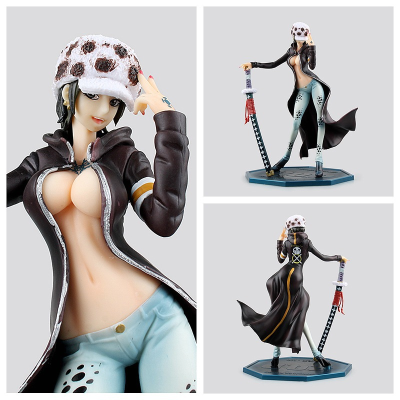Huong Anime One Piece 22CM <font><b>Sexy</b></font> <font><b>Female</b></font> Version Trafalgar D Water Law <font><b>Action</b></font> <font><b>Figure</b></font> Toys Collection Brinquedos Christmas Toy Doll image