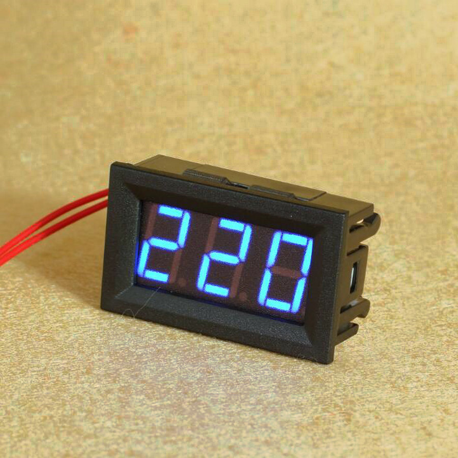 100pcs lot Digital Voltmeter 70V to 500V 0 56 inch LED Digital Panel Meter Voltage tester