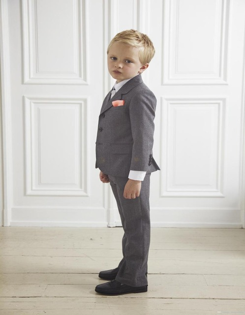 Custom Design Gray Boy Wedding Suit Boys\' Formal Occasion Attire ...