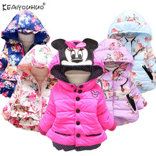 Winter Baby Girl Coats Jackets Infant Outerwear Cotton Carto
