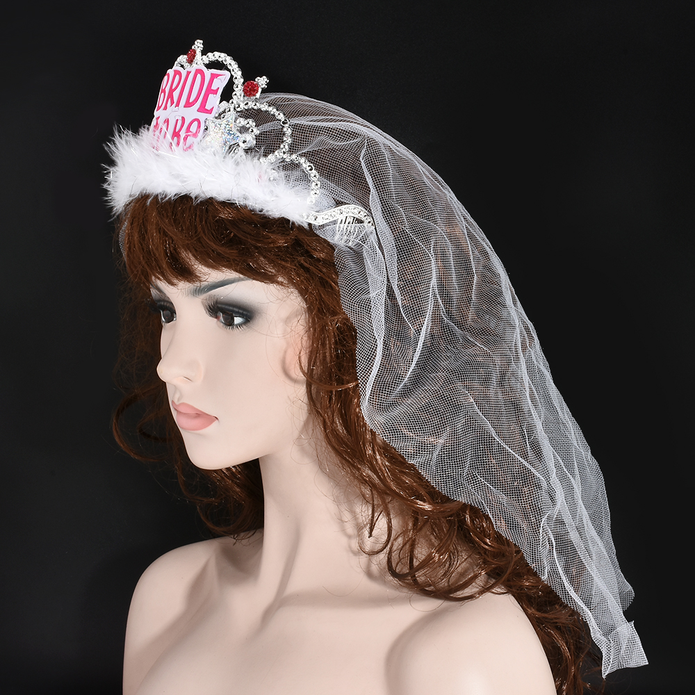 Fashion Bridal Bride Wedding Crown Tiara Veil Crystal Rhinestone Hair Headband Patry Dress Jewelry In From Accessories On