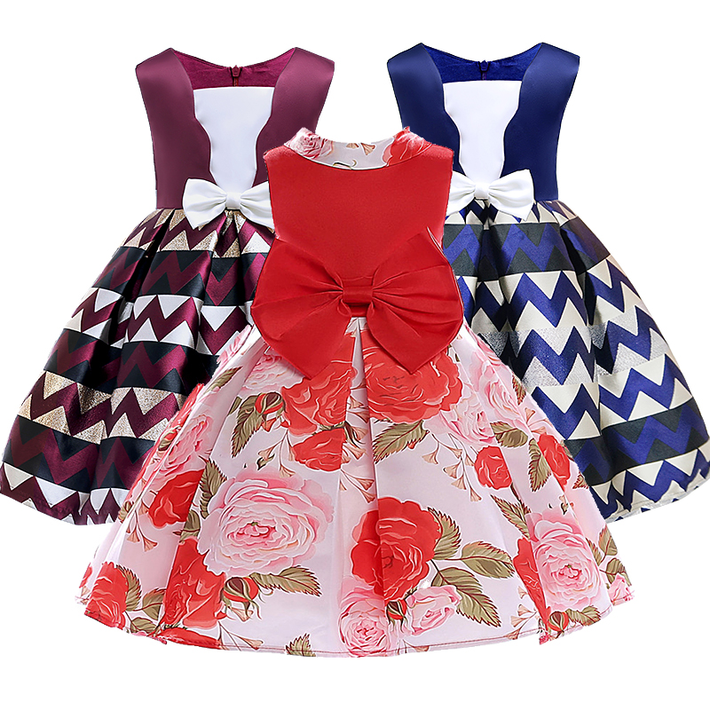Baby Girls Clothes Elegent Bowknot Princess Dress of Girl Birthday Wedding Party Dresses Kids Tutu dress Costume lcjmmo 2017 new girls dresses party princess clothes girl birthday bow trailing dress kids clothes tutu wedding dress girls 3 8y