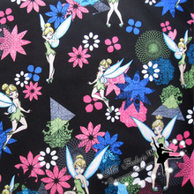 Широкий 140 см Динь-Динь, красивая сказочная Ткань, хлопок, ткань феи, набивная ткань, пэчворк, швейный материал для рукоделия, женское платье