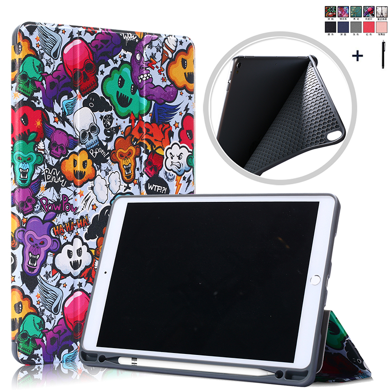 Pen Holder Flip Leather Case For <font><b>iPad</b></font> Air 3 <font><b>10</b></font>. <font><b>5</b></font> Smart Wake Sleep Cover For <font><b>iPad</b></font> <font><b>Pro</b></font> <font><b>10</b></font>.<font><b>5</b></font>'' Back Stand Capa <font><b>Fundas</b></font> +Stylus image