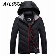 Winter Jacket Men 2016 Fashion High Quality Men's Duck Down Jackets Coats Parkas Men Thick Warm Hooded Casual Overcoat Plus Size