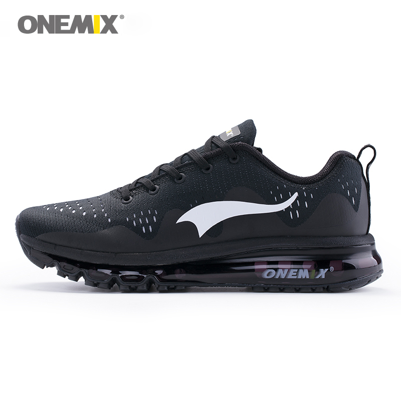 ONEMIX men running shoes women sports sneakers damping cushion breathable knit mesh vamp for outdoor jogging walking shoes