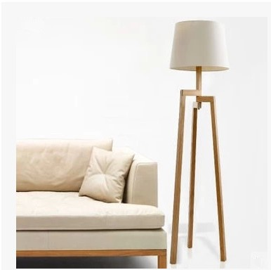 Modern Tall Wood Floor Lamps For Living Room Solid Wooden Tripod Standing  Lamp Loft Ofhead Fixture Lighting In Floor Lamps From Lights U0026 Lighting On  ...
