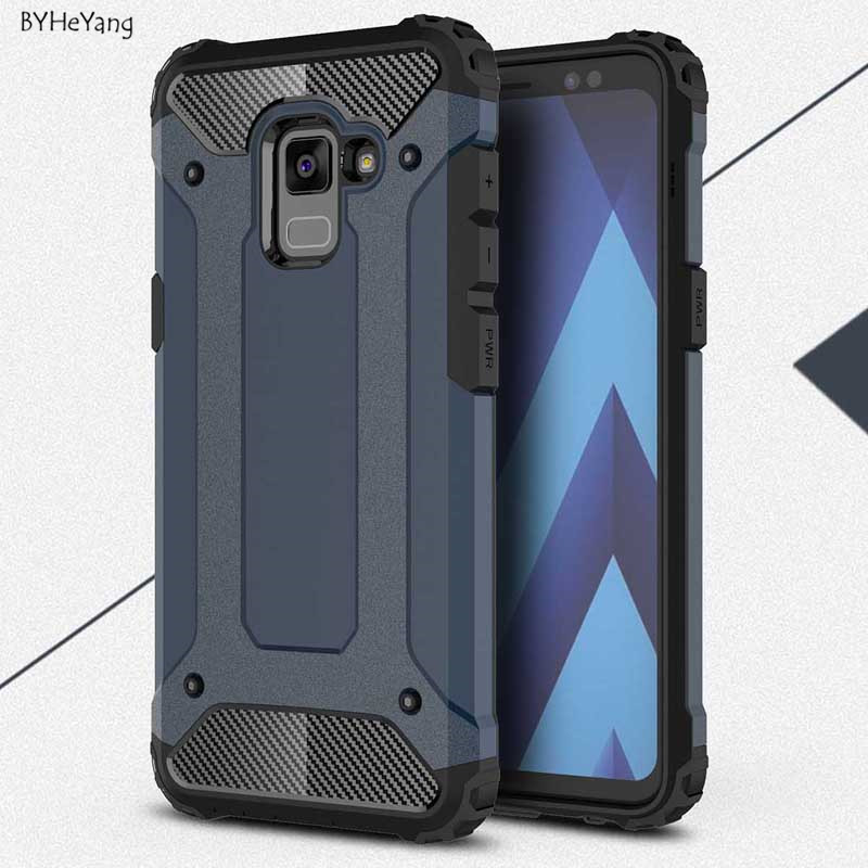 BYHeYang For Samsung Galaxy A8 2018 Case Silicone Shockproof Slim Hard Tough Rubber Armor Cases Phone Cover A5 2018 A530 Fundas