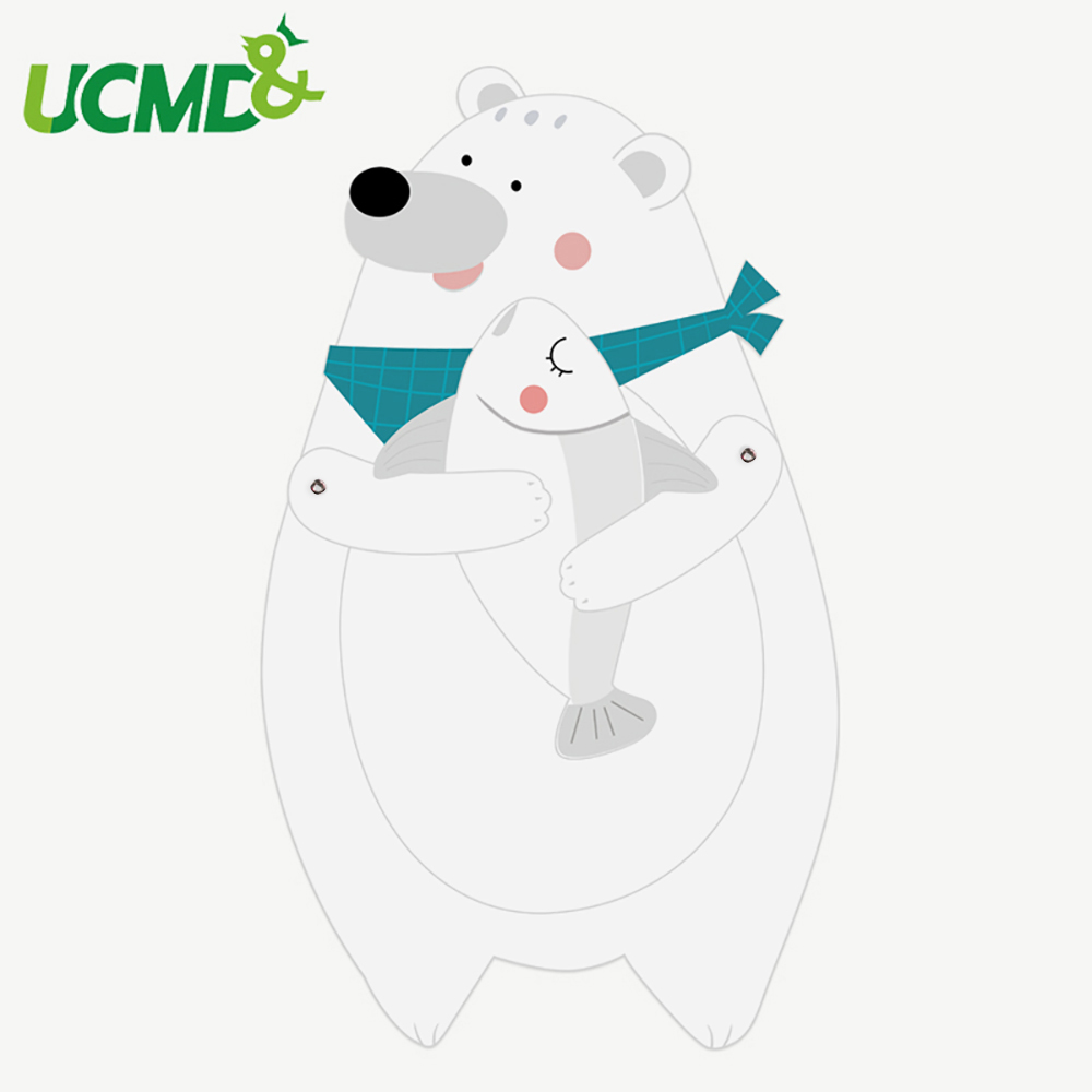 Magnetic Whiteboard Fridge Sticker Cute Animal Magnets Presentation Boards Home Kitchen Office Message Writing Boards