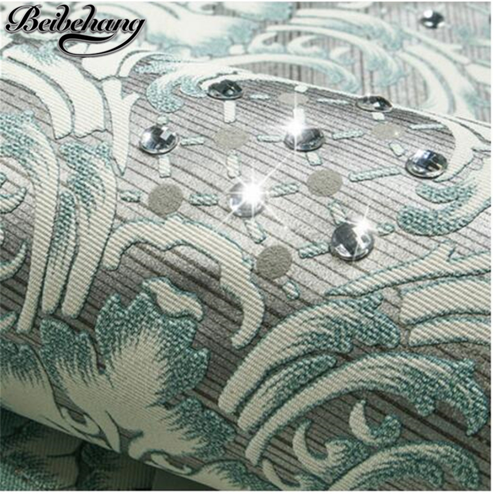 Beibehang Diamond Non Woven Wallpaper European Style