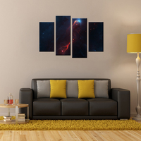 4 Panels Starry Night Canvas Dream Sky Space Poster Artworks Wall Picture HD Printed Modern Painting Home Decor Mural Contempora