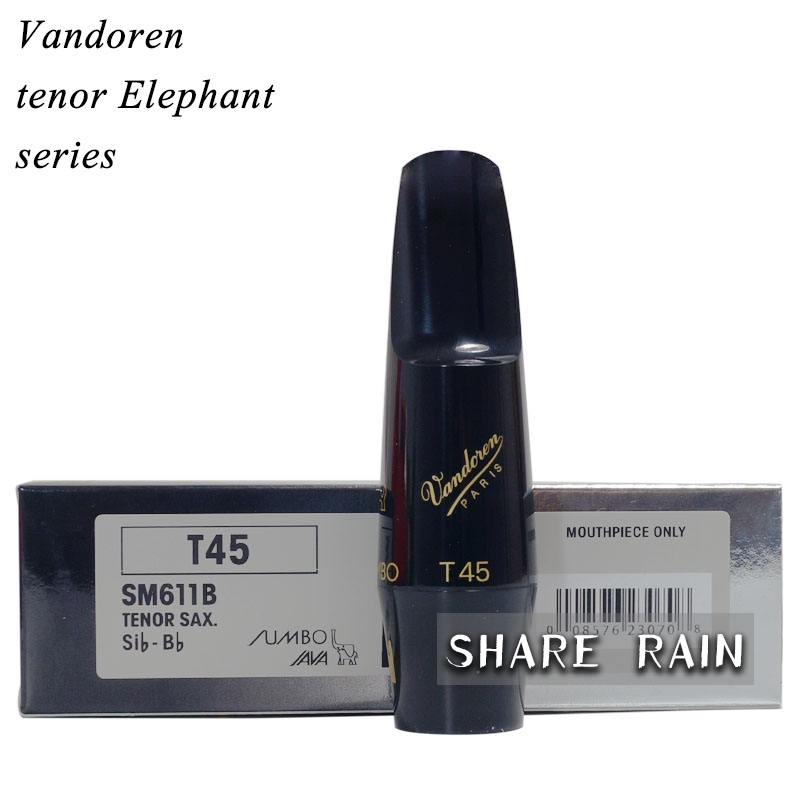 Vandoren Elephant Bb tenor sax Mouthpiece T45 T55 T75 bb f tenor trombone lacquer brass body with plastic case and mouthpiece musical instruments