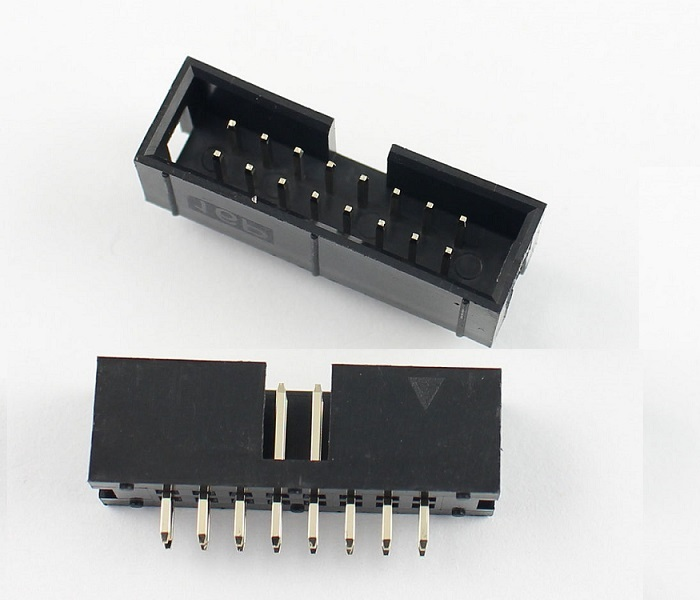 10 Pcs  Box Header IDC Socket 2.54mm 2x8 Pin 16 P Straight Male Square Pin 0.64mm 2 Rows Space 2.54 Through Hole DIP Type