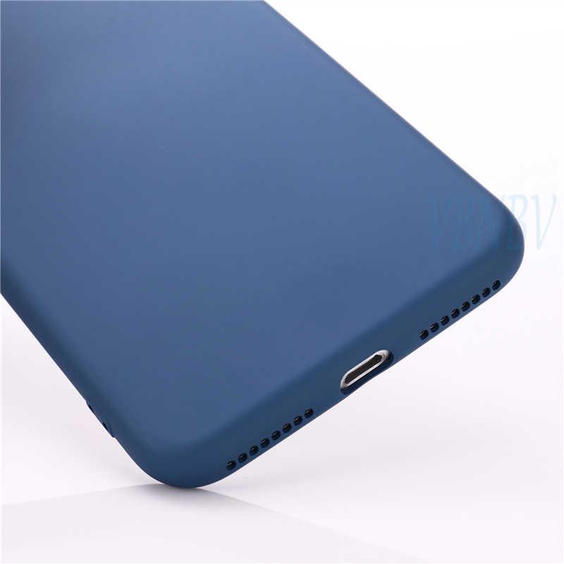 2019 nueva funda de teléfono de lujo de Color suave para iPhone 7 8 6 6S Plus a prueba de golpes TPU líquido silicona trasera cubierta para iPhone X XS X Max XR