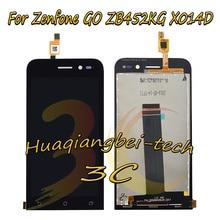 Хорошее 4.5 »Новый черный для Asus Zenfone Go ZB452KG X014D полный ЖК-дисплей дисплей + Сенсорный экран планшета Ассамблеи 100% тестирование
