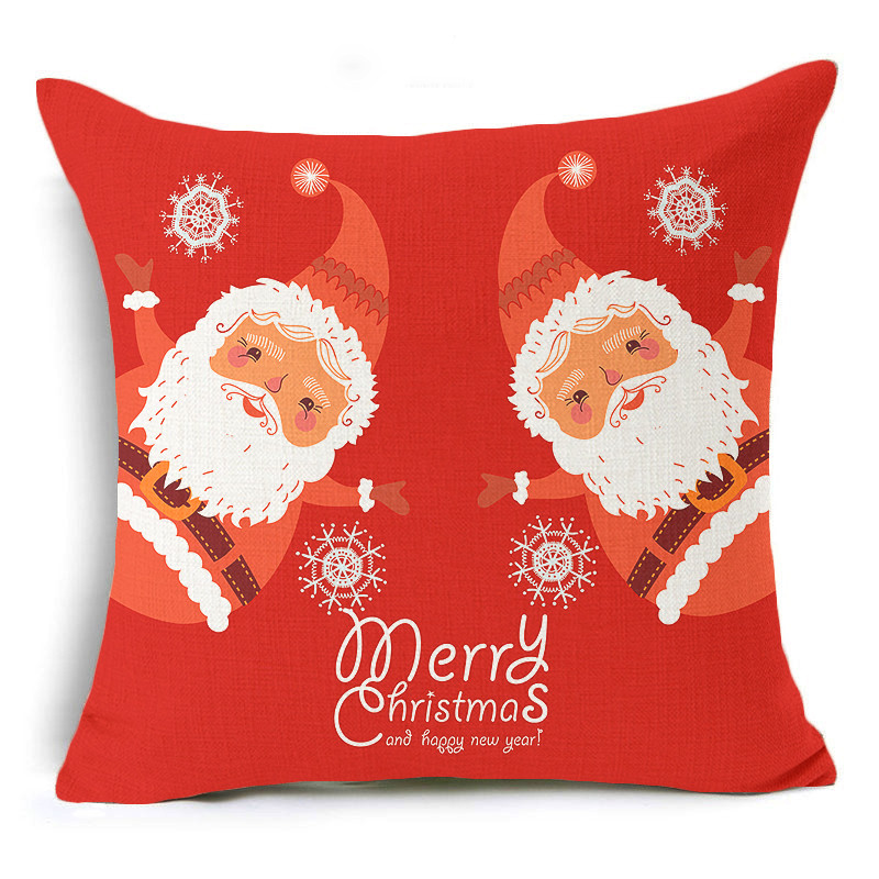 Merry Christmas Cushion Cover Let it snow Letter Printing Throw Pillow Pillowcase Cotton Linen Cushion PillowCase Home Decor