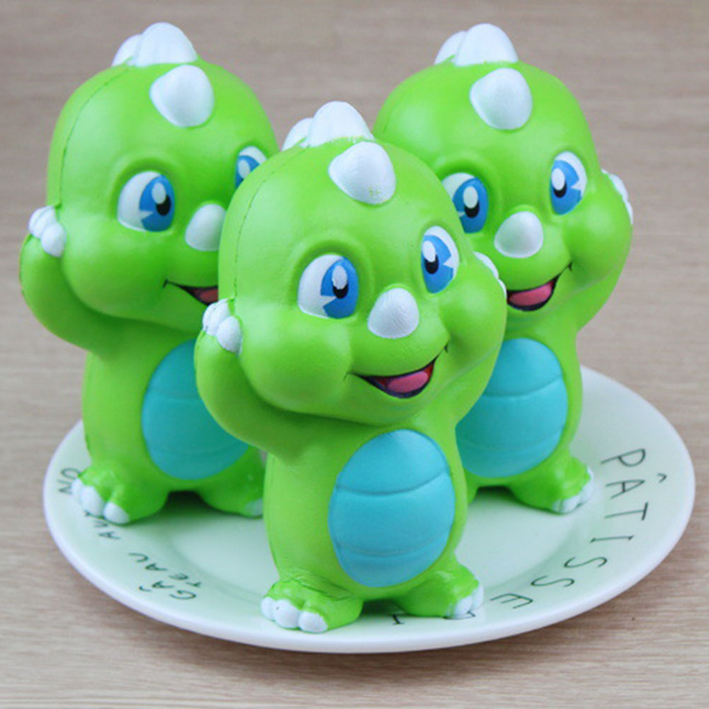 2017 1pc Slow Rising Cream Scented Decompression Toys squeeze toy stress relief Dinosaur