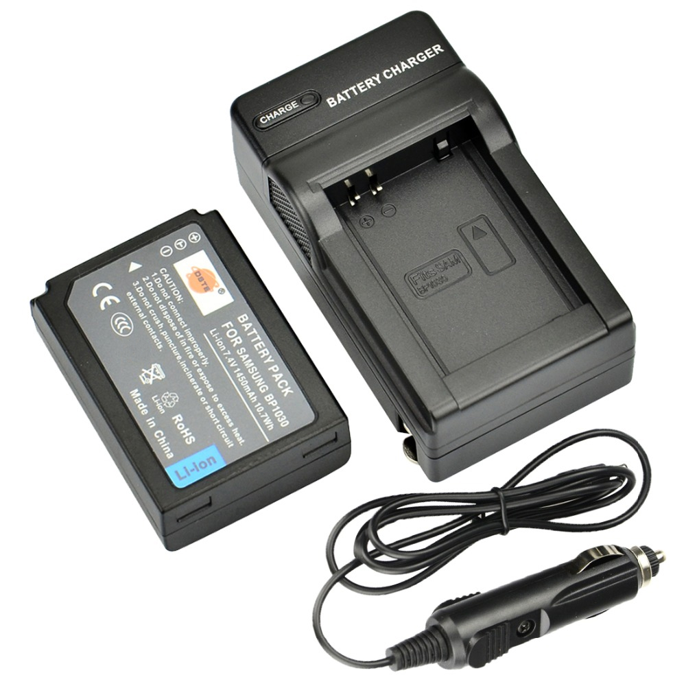 DSTE BP1030 BP-1030 Li-ion <font><b>Battery</b></font> with Travel and Car Charger for <font><b>Samsung</b></font> NX200 NX210 NX300 NX300M NX500 NX1000 <font><b>NX1100</b></font> NX2000 image