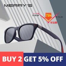 huge discount 42820 85cd2 MERRYS DESIGN hommes femmes classique rétro Rivet lunettes de soleil  polarisées Design plus léger cadre carré 100% Protection UV.